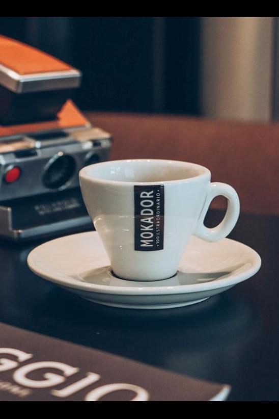 Porcelain espresso coffee cup set Mokador set of 6