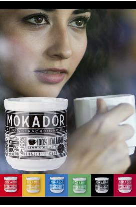 Ceramic coffee mug Mokador